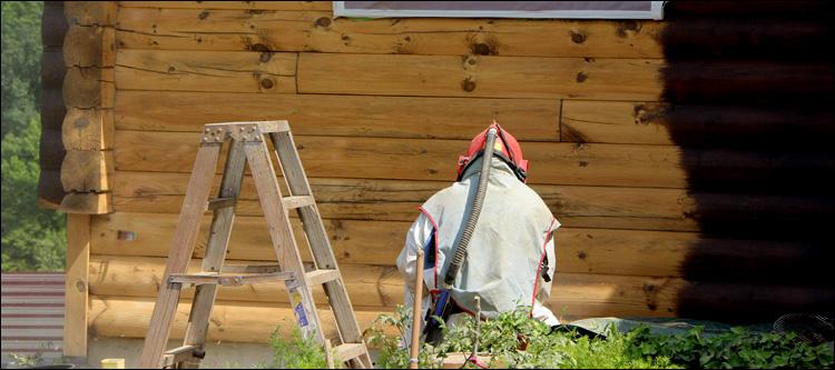 Log Home Sanding